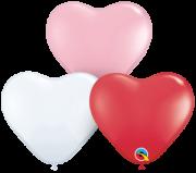 BALÃO DE LÁTEX CORAÇÃO SWEET HEART AST 15 POLEGADAS - PACOTE COM 50 - QUALATEX #24701