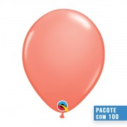 BALÃO DE LÁTEX CORAL 11 POLEGADAS - PC 100UN - QUALATEX #24284