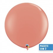 BALÃO DE LÁTEX CORAL 3 PÉS - PC 2UN - QUALATEX #15883