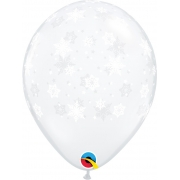 BALÃO DE LÁTEX  FLOCOS DE NEVE 11 POLEGADAS - PC 50UN - QUALATEX  #40574