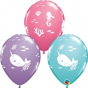 BALÃO DE LÁTEX FUN UNDER THE SEA 11 POLEGADAS - PC 50UN - QUALATEX #88300