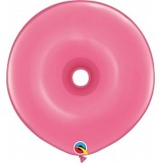 BALÃO DE LÁTEX GEO DONUT ROSA MEXICANO 16 POLEGADAS - PC 25UN - QUALATEX #37692