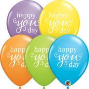 BALÃO DE LÁTEX HAPPY YOU DAY 11 POLEGADAS PC 50 -  QUALATEX #88258