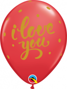 BALÃO DE LÁTEX I LOVE YOU 11 POLEGADAS PC 50 -  QUALATEX #88213