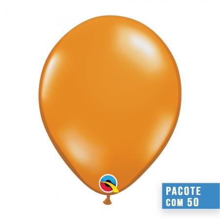 BALÃO DE LÁTEX LARANJA MANDARIM JOIA 11 POLEGADAS - PC 100UN - QUALATEX #43760