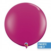 BALÃO DE LÁTEX MAGENTA 3 PÉS - PC 2UN - QUALATEX #43492