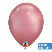 BALÃO DE LÁTEX MALVA CHROME 7 POLEGADAS - PC 100UN - QUALATEX #85157