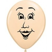 BALÃO DE LÁTEX MANS FACE  5 POLEGADAS - PCT 100 - QUALATEX #99308