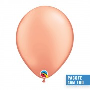 BALÃO DE LÁTEX OURO ROSÉ 11 POLEGADAS - PC 100UN - QUALATEX #57211