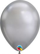 BALÃO DE LÁTEX PRATA CHROME 11 POLEGADAS - PC 25UN - QUALATEX #58276