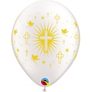 BALÃO DE LÁTEX RELIGIOSO PRL 11 POLEGADAS - PC 50UN - QUALATEX #86384