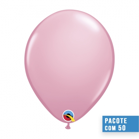 BALÃO DE LÁTEX ROSA 16 POLEGADAS - PC 50UN - QUALATEX #43883