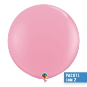 BALÃO DE LÁTEX ROSA 3 PÉS - PC 2UN - QUALATEX #42764