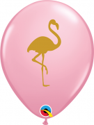 BALÃO DE LÁTEX ROSA FLAMINGO 11 POLEGADAS - PC 50UN - QUALATEX #57434