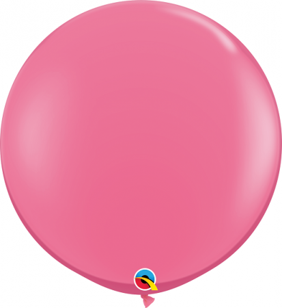 BALÃO DE LÁTEX ROSA MEXICANO 3 PÉS - PC 2UN - QUALATEX #43640