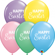 BALÃO DE LÁTEX SIMPLY HAPPY EASTER 11 POLEGADAS - PCT 50 - QUALATEX #98538
