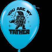 BALÃO DE LÁTEX STAR WARS: YOU ARE MY FATHER 11 POLEGADAS - PC 25UN - QUALATEX #24358