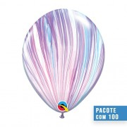 BALÃO DE LÁTEX SUPERAGATE FASHION 11 POLEGADAS - PC 100UN - QUALATEX #43806
