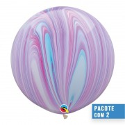 BALÃO DE LÁTEX SUPERAGATE FASHION 30 POLEGADAS - PC 2UN - QUALATEX #55378