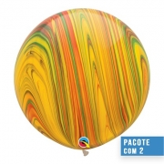 BALÃO DE LÁTEX SUPERAGATE TRADICIONAL 30 POLEGADAS - PC 2UN - QUALATEX #55377