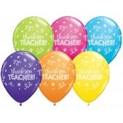 BALÃO DE LÁTEX  THANK YOU TEACHER 11 POLEGADAS - PC 50UN - QUALATEX #13832