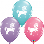 BALÃO DE LÁTEX UNICORNIO CAPRICHOSO 11 POLEGADAS PC 50 -  QUALATEX #97376