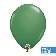 BALÃO DE LÁTEX VERDE 16 POLEGADAS - PC 50UN - QUALATEX #43869