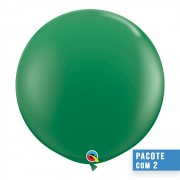BALÃO DE LÁTEX VERDE 3 PÉS - PC 2UN - QUALATEX #41997