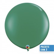 BALÃO DE LÁTEX VERDE ESMERALDA 3 PÉS - PC 2UN - QUALATEX #43002