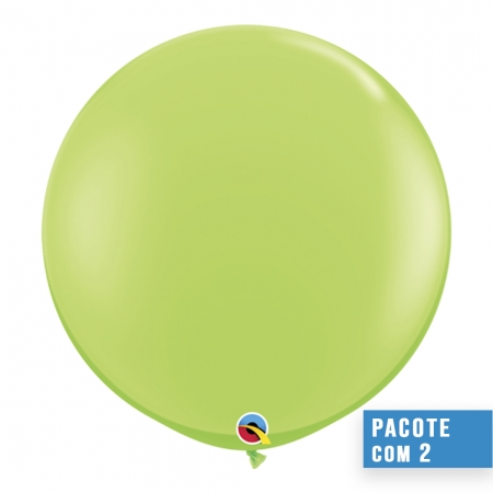 BALÃO DE LÁTEX VERDE LIMA 3 PÉS - PC 2UN - QUALATEX #43660