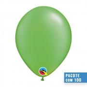 BALÃO DE LÁTEX VERDE LIMA PEROLADO 11 POLEGADAS - PC 100UN - QUALATEX #49957