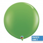 BALÃO DE LÁTEX VERDE PRIMAVERA 3 PÉS - PC 2UN - QUALATEX #45715