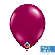 BALÃO DE LÁTEX VINHO CRISTAL 11 POLEGADAS - PC 100UN - QUALATEX #43739