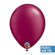 BALÃO DE LÁTEX VINHO PEROLADO 11 POLEGADAS - PC 100UN - QUALATEX #43769
