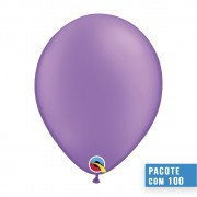 BALÃO DE LÁTEX VIOLETA NEON 11 POLEGADAS - PC 100UN - QUALATEX #74576