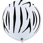 BALÃO DE LÁTEX ZEBRA STRIPES 3 PÉS - PC 2UN - QUALATEX #45264