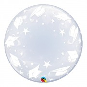 BALÃO DECO BUBBLE CHAPÉU DE FORMANDOS - 24 POLEGADAS  - QUALATEX #48565