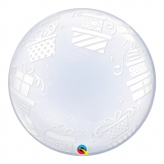 BALÃO DECO BUBBLE PRESENTES EMBRULHADOS - 24 POLEGADAS  - QUALATEX #52004