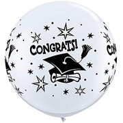 BALÃO LÁTEX CONGRATS! CAP WRAP 3 PÉS - PC 2UN - QUALATEX #31396