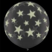 BALÃO LÁTEX GLOW STARS-A-RND 3 PÉS - PC 2UN - QUALATEX #28154