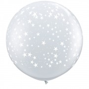 BALÃO LÁTEX STARS-A-RND 3 PÉS - PC 2UN - QUALATEX #29264