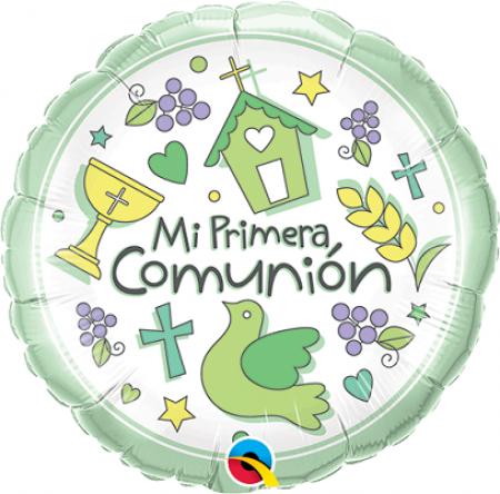 BALÃO METALIZADO 09 POLEGADAS MI PRIMERA COMUNION QUALATEX #40157