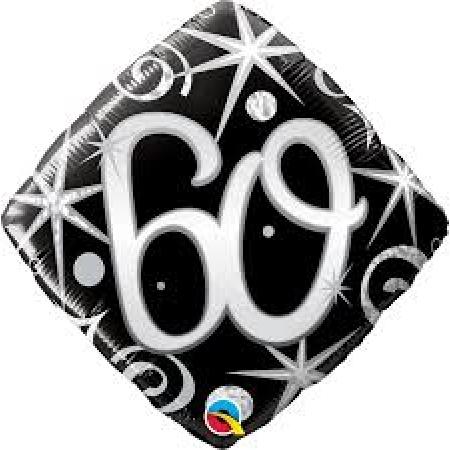 BALÃO METALIZADO 18 POLEGADAS 60 FAÍSCAS E ESPIRAIS ELEGANTE QUALATEX #30026