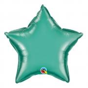 BALÃO METALIZADO ESTRELA VERDE CHROME - 20 POLEGADAS - SOLTA - QUALATEX #89721