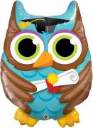 BALÃO METALIZADO - GRADUATE OWL- 34 POLEGADAS - QUALATEX #55863