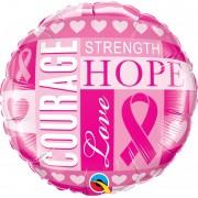 BALÃO METALIZADO INSPIRAÇÕES DO CANCER DE MAMA - 18 POLEGADAS - QUALATEX #35117