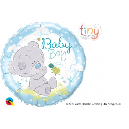 BALAO METALIZADO MENINO TINY TATTY TEDDY - 18 POLEGADAS - QUALATEX #28172