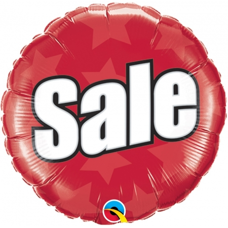 BALÃO METALIZADO REDONDO SALE 18 POLEGADAS QUALATEX #51789