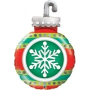 BALÃO METALIZADO SNOWFLAKE ORNAMENT 35 POLEGADAS - QUALATEX #52940