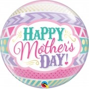 BUBBLE - 22 POLEGADAS - MOTHERS DAY DOTS AND STRIPS  #47636